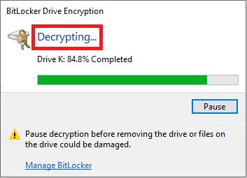 حذف رمز بیت لاکر