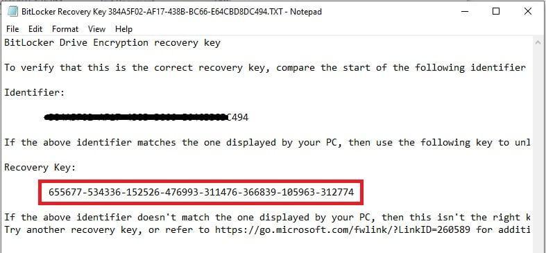 حذف بیت لاکر با کلید ریکاوری
